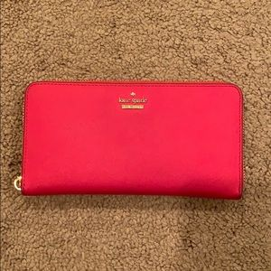 Authentic Kate Spade Hot Pink Wallet